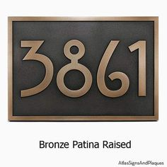 Custom Sign Bungalow Mackintosh Stickley Address Plaque Home Numbers Bungalow with Very Cool Font 12.5 x 8.75 inches by Atlas Signs