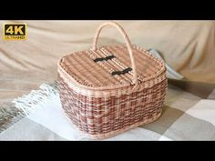 Корзина для пикника. Часть 3. Завершение. - YouTube Wedding Gift Baskets, Wedding Gifts, Newspaper Bags, Paper Furniture, Wicker Picnic Basket, Cardboard Paper, Sewing Baskets, Flower Basket, Easter Baskets
