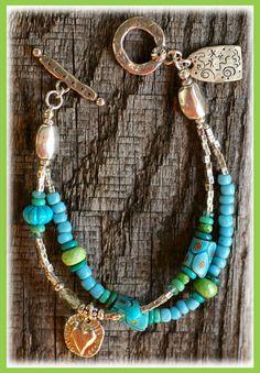 Trade bead bracelet.