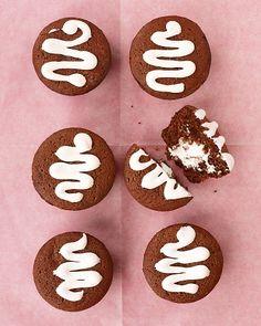 Marshmallow Cream-Filled Chocolate Cupcakes Recipe