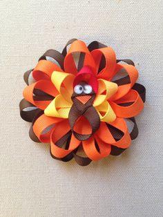 ribbon thanksgiving hair