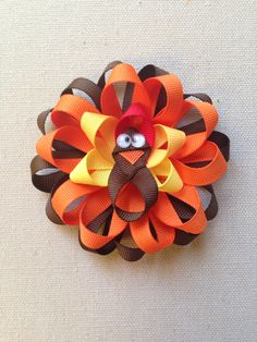 Thanksgiving Hair Bow, POST THANKSGIVING SALE My first thanksgiving bow, Yellow…