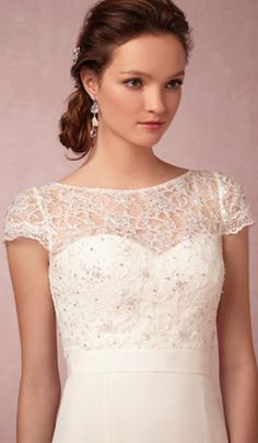 Lace wedding gown topper @BHLDN