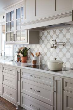 Gorgeous Kitchen with Gorgeous Range Hood   via Emily Henderson