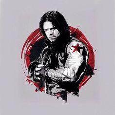 Captain America civil war Promo Art : captain america /steve rogers(chris evans) winter soldier / bucky barnes (sebastian stan)