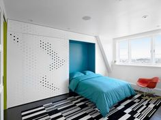"""Without closet doors this would work with a regular bed to move it into the closet and out of the """"living"""" area of the room."""