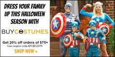 Fun Halloween Costume Ideas for Families & Couples + 25% Off