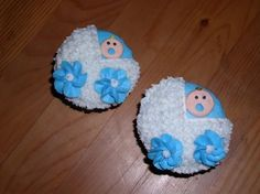 boy baby shower cupcakes - Made 3 dozen of these.  Buttercream.  Very time consuming!