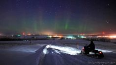 Northern Lights in Presque Isle, Maine