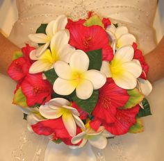 red hibiscus bouquets | Real Touch Hibiscus Wedding Bouquets - Eternal Bouquets