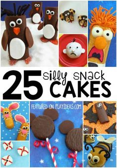 25 Silly Snack Cake Crafts for Kids. Use those Twinkies and Ho Ho's to make all the silly snack cake crafts you can imagine! Click now! Cake Craft, Cooking With Kids, Cookbook Recipes, Kid Friendly Meals, Halloween Treats, Food Art, Kids Meals, Cupcake Cakes, Cupcakes