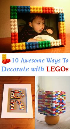 Add a bit of color to your home decor using Lego blocks!