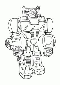 Optimus Prime bot coloring pages for kids printable free