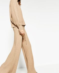 Image 4 of RIBBED TROUSERS from Zara