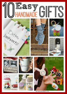 Handmade gifts are great to give and to get! There are some really cute ideas here and they are all pretty easy to make. #ChristmasGifts