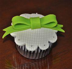 Green Ribbon Cupcake