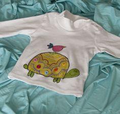 Camiseta pintada a mano en algodón orgánico