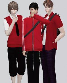Kalewa-a: School Uniform for him part2 • Sims 4 Downloads