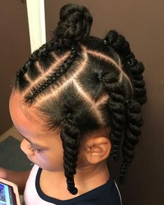 Hairstyles For Kids Videos African American - Hairstyles Toddler Braided Hairstyles, Toddler Braids, Lil Girl Hairstyles, Black Kids Hairstyles, Natural Hairstyles For Kids, Braids For Kids, Girls Braids, Protective Hairstyles, Natural Hair Styles
