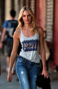 Street style - Candice Swanepoel - motivation!!