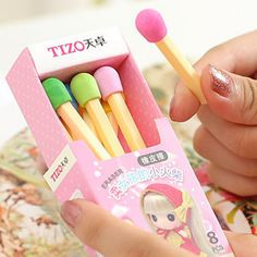 Korea stationery cartoon rubber girls small matches eraser-inEraser from Office  School Supplies on Aliexpress.com $9.00