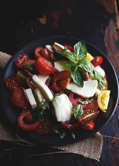 Gorgeous Caprese Salad using Heirloom Tomatoes