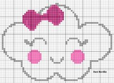 This Pin was discovered by Môn Cross Stitch Borders, Cross Stitch Baby, Cross Stitching, Cross Stitch Embroidery, Hand Embroidery, Cross Stitch Patterns, Knitting Charts, Baby Knitting, Knitting Patterns