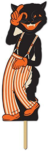 Lead Singer Scat Cat Yard Sign Lawn Ornament Halloween Decoration 18 x 7 ** Read more reviews of the product by visiting the link on the image.