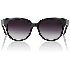 Barton Perreira Women's Valleygirl Sunglasses ($395) ❤ liked on Polyvore featuring accessories, eyewear, sunglasses, multi, oversized round glasses, oversized sunglasses, gradient lens sunglasses, barton perreira glasses and oversized square sunglasses