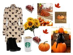 """""""Pumpkin Patch Day"""" by fashion2religion ❤ liked on Polyvore featuring Burberry, Hogan, Grandin Road and autumn"""