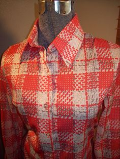 Vintage 60s 70s Jack Winter Red And White by atomicbettiescloset