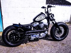 'Fat Foot', Crazy Orange Japan Inspired-Harley Davidson Sportster Bobber.