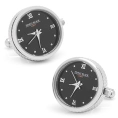 Stainless Steel Functional Watch Cufflinks, Penny Black Forty from Cufflinksman Unusual Watches, Most Popular Watches, Designer Cufflinks, Watch Cufflinks, Penny Black, Black Stainless Steel, Neiman Marcus, Gifts For Him, Jewels