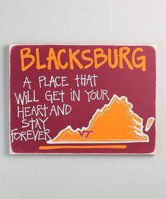 Loving this Virginia Tech Hokies Map Wall Sign on #zulily! #zulilyfinds