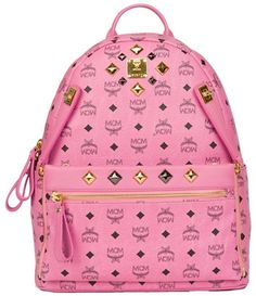This season's key accessory are backpacks. Crafted from monogrammed leather, give your wardrobe a new fresh look with is instantly famous logo design and eye-catching color. An additional look is the