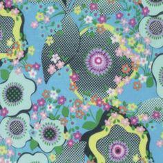 Amy Butler - Glow Knit - Peace Flower Knit in Marine