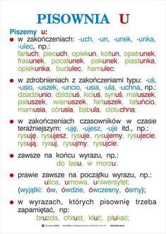 ortografia i gramatyka - kas. Learn Polish, Polish Language, French Grammar, Gernal Knowledge, School Subjects, Teaching Activities, School Notes, Study Motivation, Teaching English