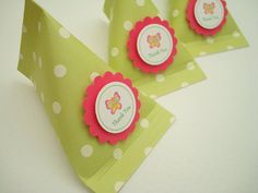 Candy Pouch Party Favors Lime Green Polka Dots Set by SimpleTastes, $15.00