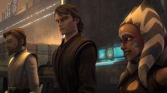 Star Wars Clone Wars Photo - Obi-Wan, Anakin, and Ahsoka. Star Wars Rebels, Star Wars Clone Wars, Star Wars Personajes, Ahsoka Tano, Star War 3, Anakin Skywalker, Love Stars, Star Wars Characters, Obi Wan