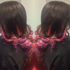 Pink and purple extensions