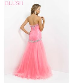 Long Prom Dresses 2014 | 2014 Prom Dresses - Barbie Pink Strapless Sequin & Tulle Long Prom ...