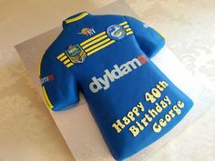 Another NRL team- the Parramatta Eels. Vanilla cake with vanilla buttercream and…