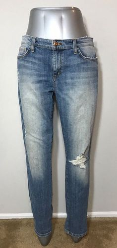 Joes Jeans Womens Size 31 Vintage Reserve Skinny Ankle Distressed Fray Destroyed #JoesJeans #SkinnyAnkle