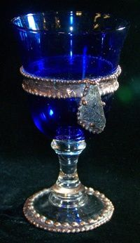 Magickal Ritual Sacred Tools: Cobalt Blue glass chalice with handcrafted copper beading and a large piece of clear rutilated quartz. Kind Of Blue, Love Blue, Blue And White, Color Blue, Cobalt Glass, Cobalt Blue, Bleu Indigo, Pantone, In Vino Veritas