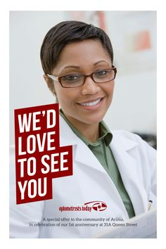 Flyer design for Optometrists Today.