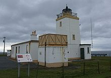 Eshaness Lighthouse · NW Mainland Shetland (Pos: 60° 29.350'N   001° 37.680'W); built 1915/ current Lighthouse built 1929; Today: self-catering holiday accommodation.