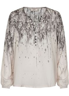 Cream Bluse grå printet 10601057 Cele Blouse - kit – Acorns