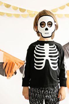 Skeleton Mask- CHILD- Halloween