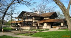 ... South Harrison Avenue, Kankakee, Illinois - 1900 - Frank Lloyd Wright