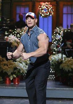 """The opening monologue was so good"" Celebrity Stars, Celebrity Kids, John Cena Pictures, Jone Cena, Wwe Superstar John Cena, John Cena And Nikki, Bodybuilding Quotes, Roman Reings, Wwe Champions"